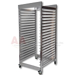 Aluminum Screen Rack - 20 x 24; and 23 x 31 screens - 20 Screen Capacity